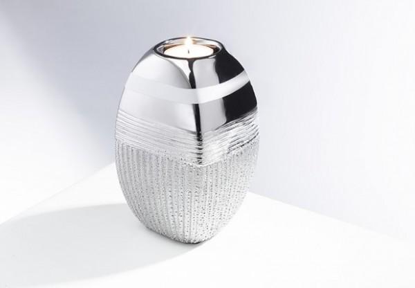 Silver Luf | Keramik Teelichthalter silber