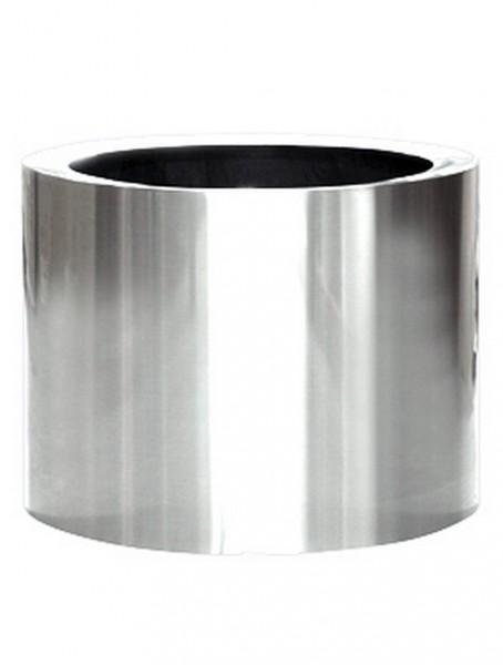 Aluminium poliert Cylinder Pflanzkübel