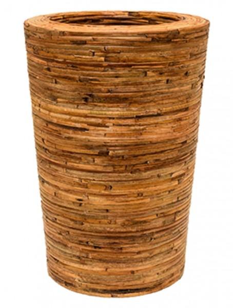 Partner Bamboo bark Rattan Pflanzvase