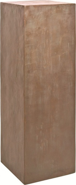Dekosäule Fiberglas | Pedestal verdigris bronze