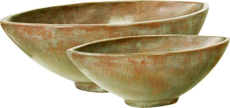 Loft Bowl verdigris bronze | Pflanzschale