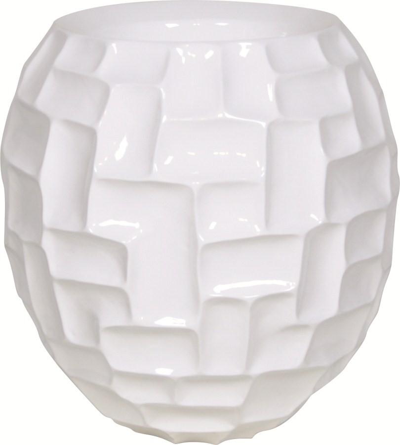 Mosaic Ball weiß | Kunstharz Pflanzkübel