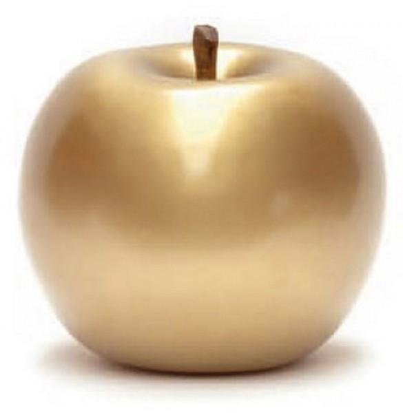 Keramik Apfel gold   Cores da Terra