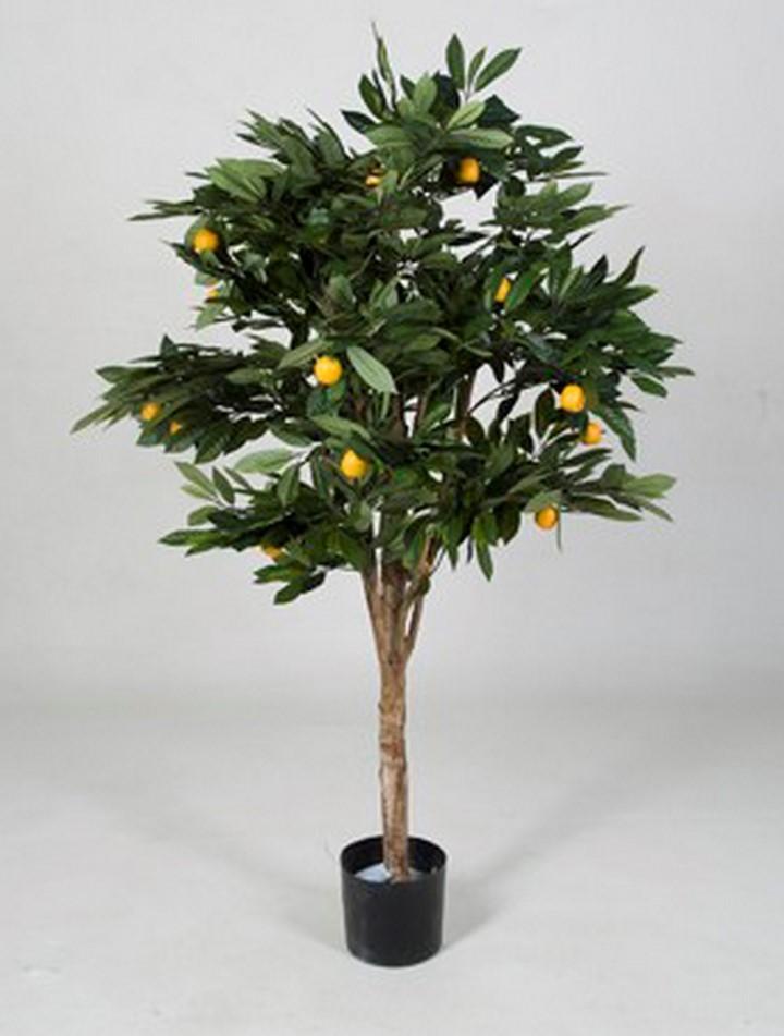 Citrus mandarine | Kunstpflanze im Kunststofftopf