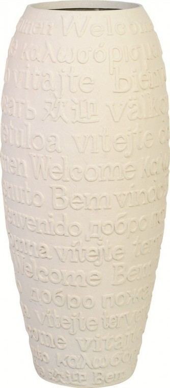 Welcome Polystone Pflanzvase