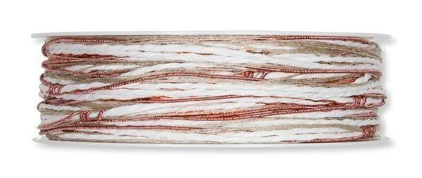 Kordelband Materialmix kupfer-weiß 3 mm - 15 m