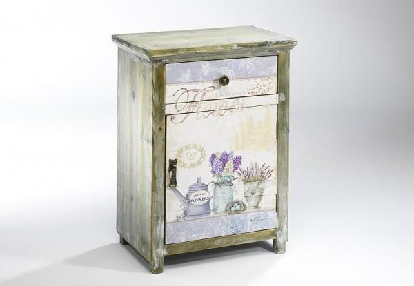 Provence Deko Holz-Schränkchen