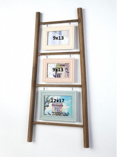 Holz Bilderrahmenleiter für 3 Bilder