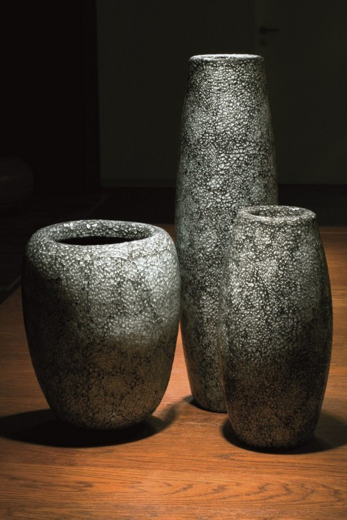 Conical aqua | Glasmosaik Pflanzvase