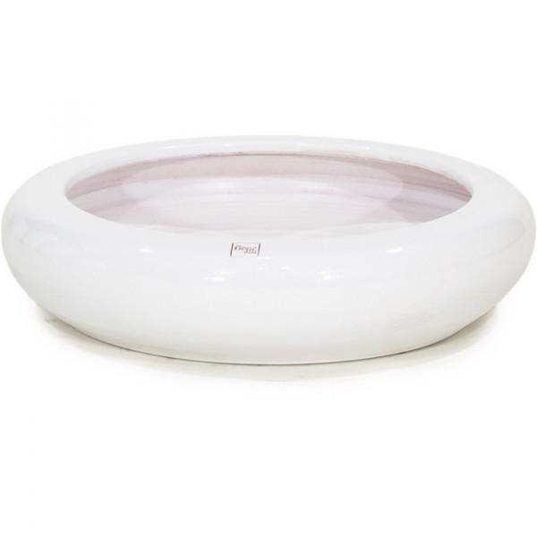 Keramikschale Glaze ecru weiß