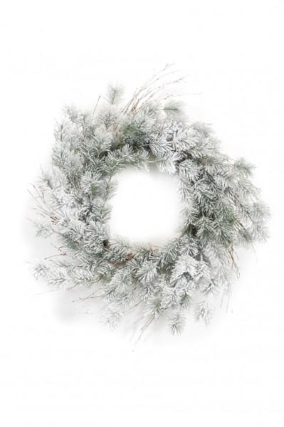Pine split - Kunstkranz beschneit
