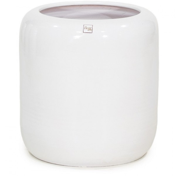 Keramikkübel ecru weiß