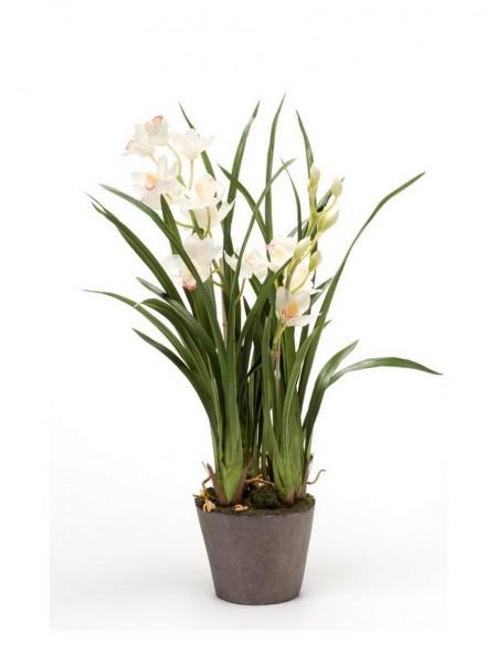 Cymbidium soiled 75cm - Orchideen Kunstblume