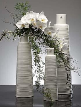 Vase Papyrus - Porzellan Weiß