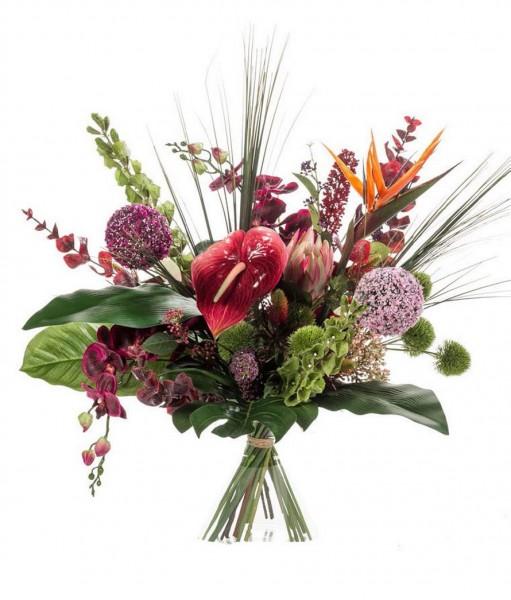 Exotic Mix - Großer Kunstblumenstrauß