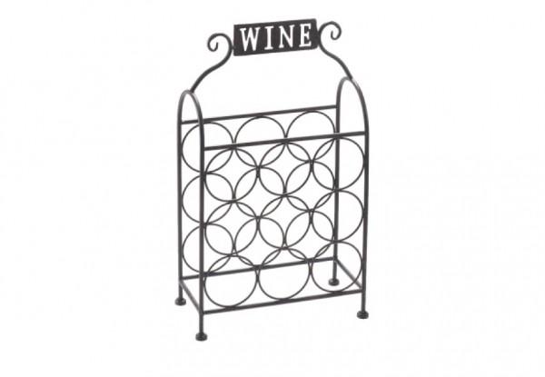 Wine Weinregal aus Metall antikbraun