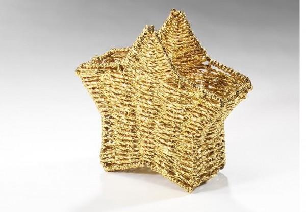 Goldene Dekostern Schale
