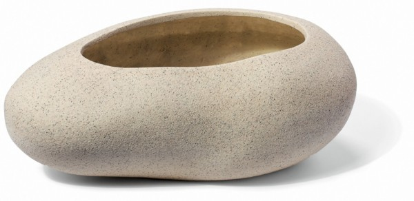 Bare Rock Cream Pflanzkübel Steinform | ArtLine Stone