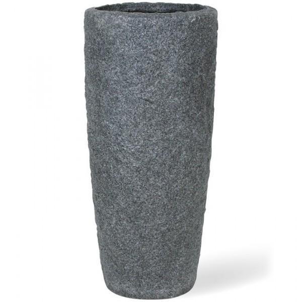 Rocky smoke granite | Fiberglas Pflanzvase