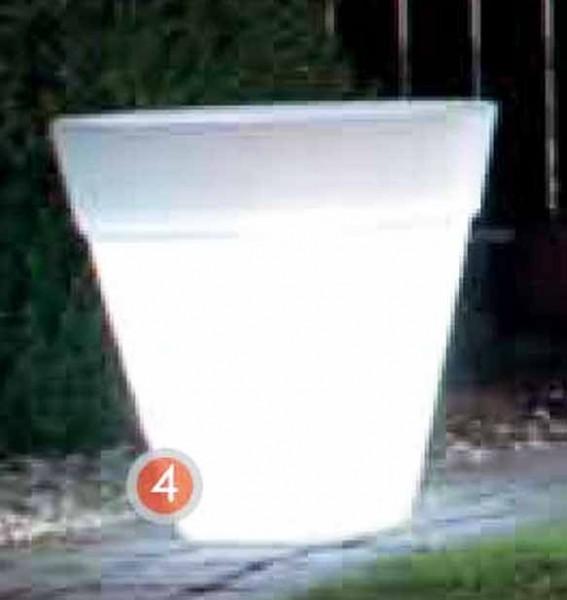 Shining Pot rund   Leucht Pflanzkübel