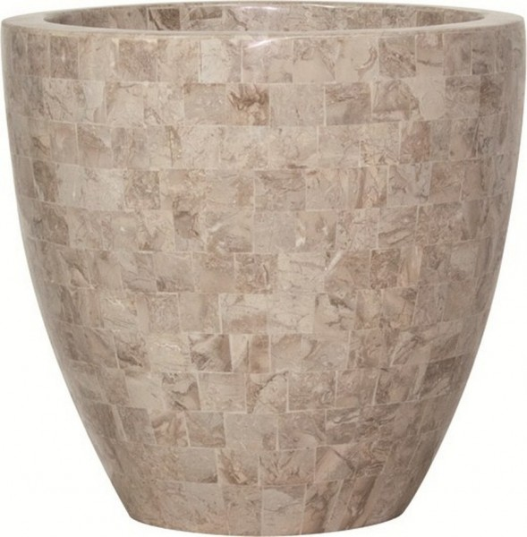 Pflanzkübel Geo Cup cappuccino marble