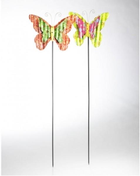 Colias 2er Set | Deko-Schmetterling auf Stab aus Metall