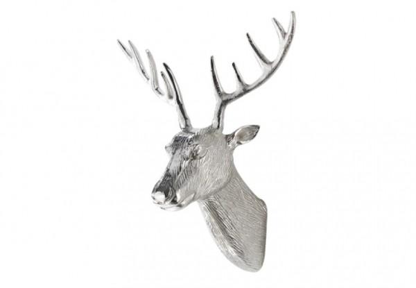 Rentier Metall Wanddekoration - siber