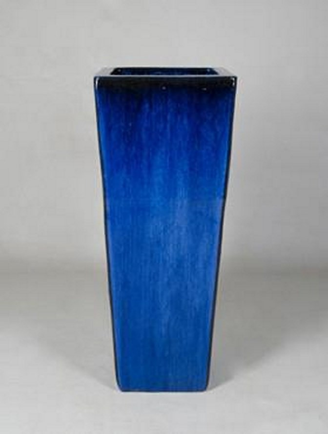 Kubis Vase   Blau Keramik   Terrapalme Heim- und Gartenshop