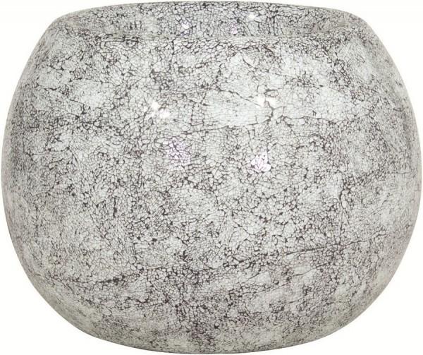 Disco aqua   Glasmosaik Pflanzgefäß