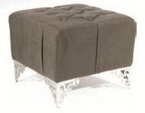Relax Hocker 50x50/42 cm, grauoliv