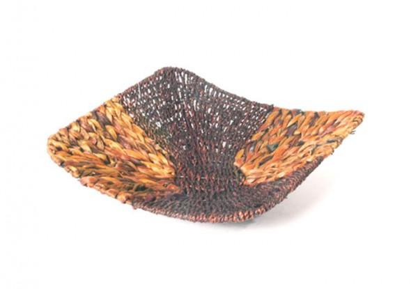 Dekoschale braun aus Wasserhyazinthe und Seegrass