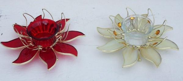 Blumen Teelicht