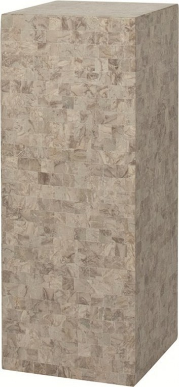 Geo Podium cappuccino marble | Dekosäule