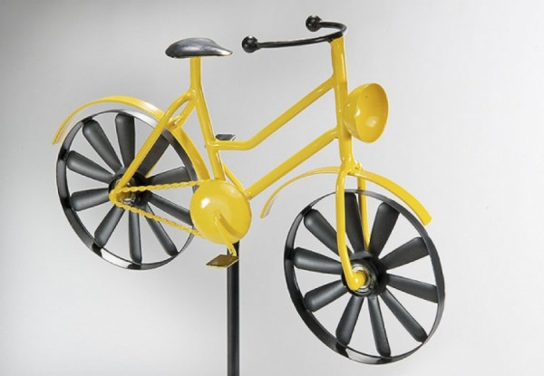 Dekostecker gelbes Damenfahrrad - Yellow bike