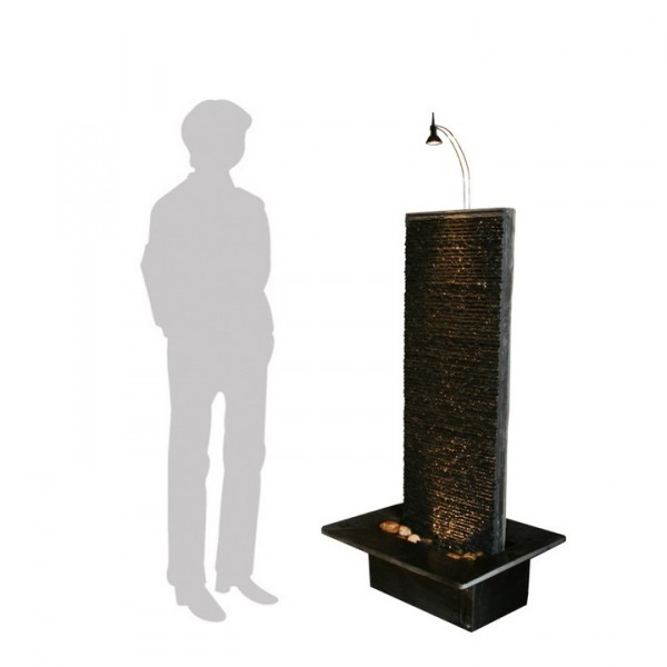 Rideau black 130 Schiefer Zimmerbrunnen Wasserwand