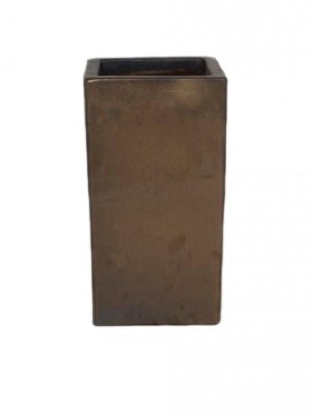 Sepia Square | Keramik Pflanzsäule