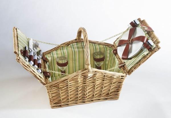 Greenlife Picknickkoffer Weide grün für 2 Personen