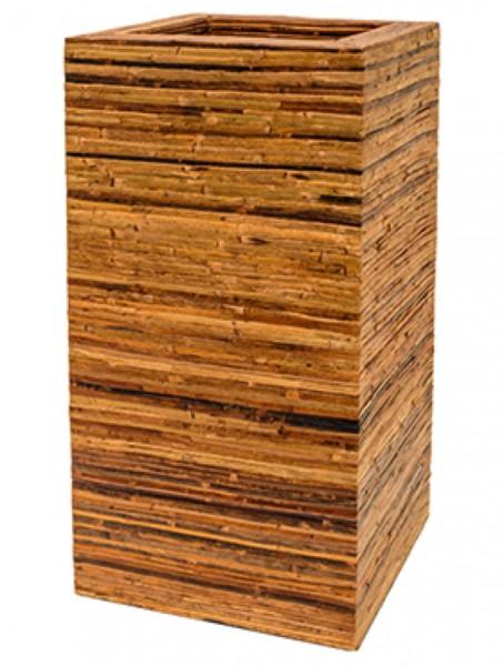 Square Bamboo bark Rattan Pflanzsäule
