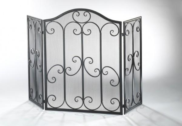 Bezas Kaminschutzgitter schwarz aus Metall