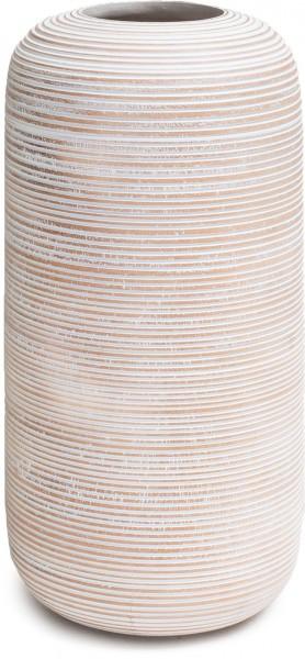 Woody Horizon Mangoholz Bodenvasen weiß