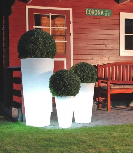 Shining Pot rund | Leucht Pflanzvase
