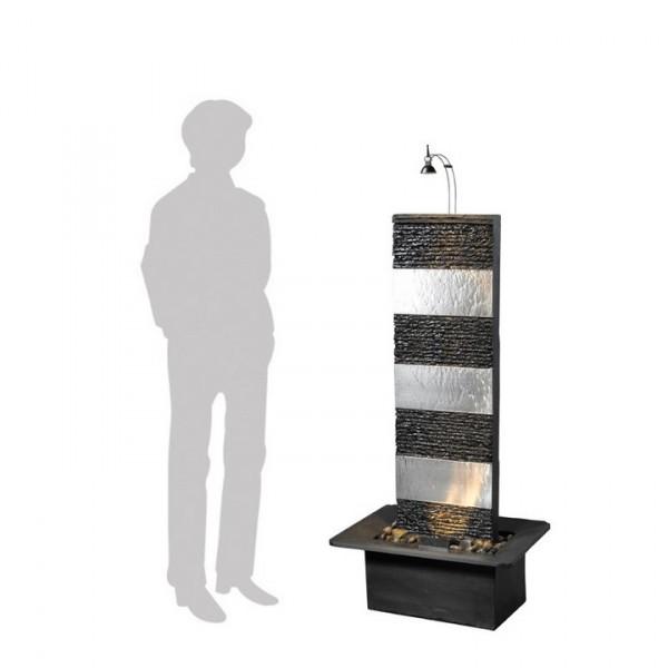 Bando Inox 130 Schiefer Zimmerbrunnen Wasserwand