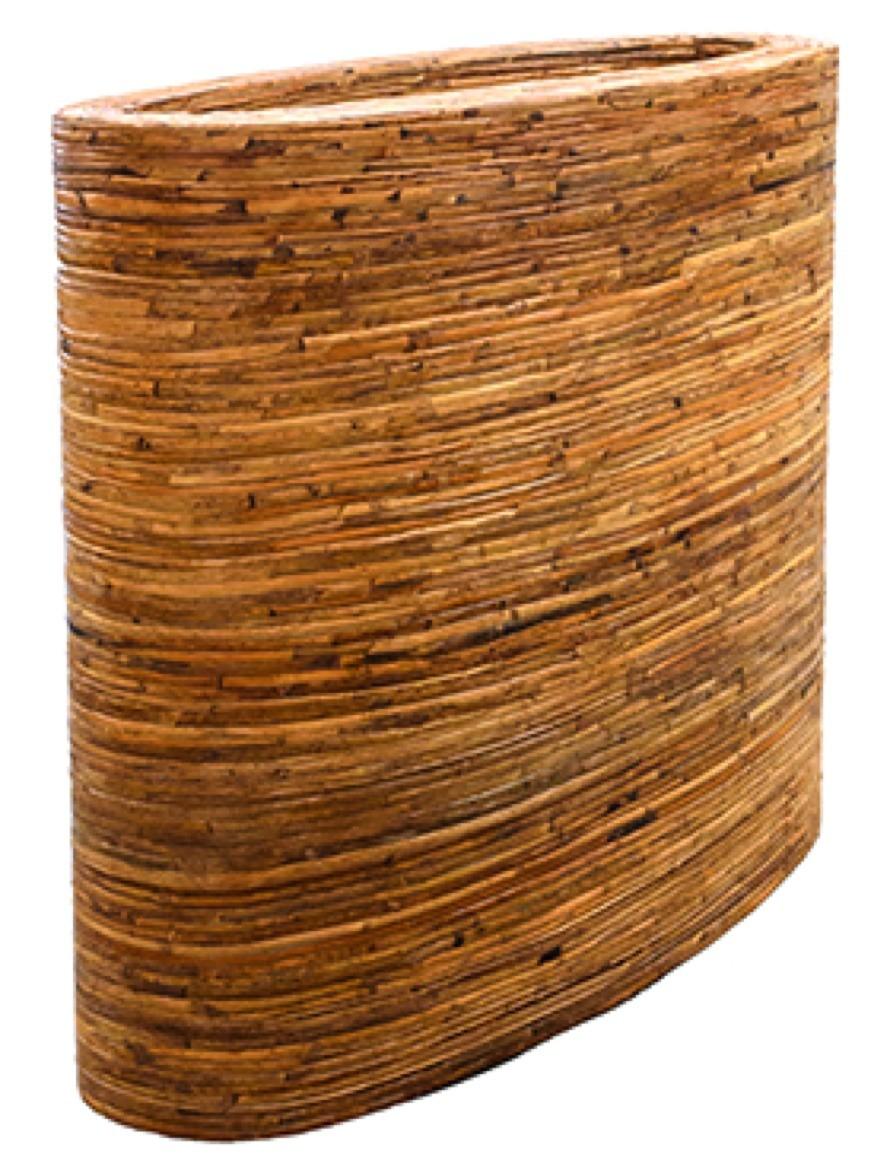 Oval Bamboo bark Rattan Pflanzkasten | Terrapalme Heim- und Gartenshop