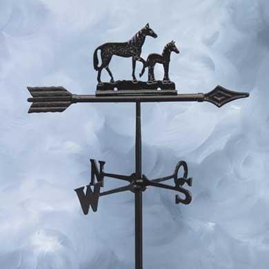 Wetterfahne Pferd mit Fohlen