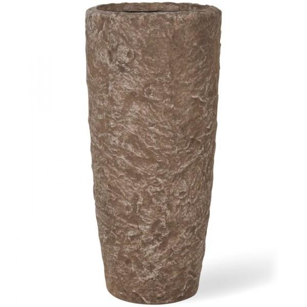 Rocky sepia granite | Fiberglas Pflanzvase