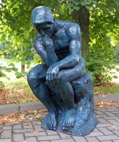 Rodin - Grosser Denker   Bronzeskulptur