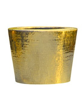 Pflanzkübel Elegant Aluminium gehämmert - Goldfarben