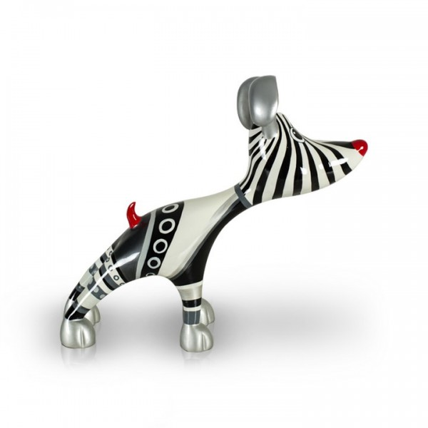Deko Hund aus Fiberglas - Stretching Dog Billie Silverline