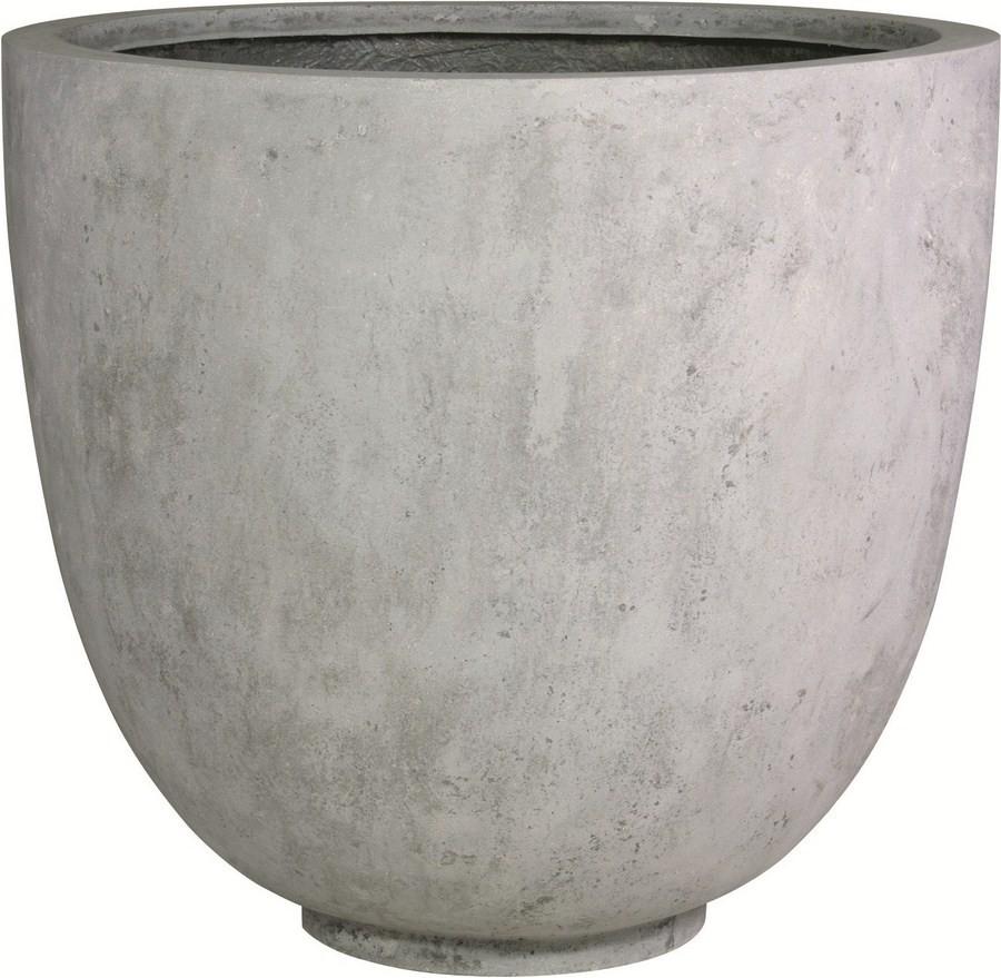 Ego Giant grey | Polystone XXL Pflanzkübel