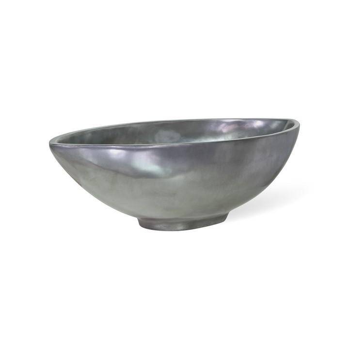 Loft Bowl aluminium | Pflanzschale